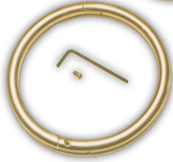 BULL RING - BRASS -  2½IN X 5/16IN - EACH