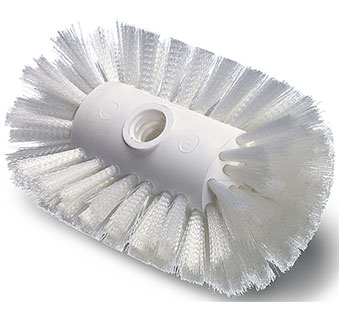 BULK TANK BRUSH W / WHITE NYLON BRISTLES 5-1/2 IN X 7-1/2 IN
