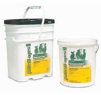 SAFE-GUARD® TYPE B MEDICATED  1.96% SOFT MINI PELLET 25 LB PAIL
