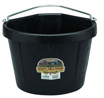 CORNER RUBBER BUCKEET - BLACK - 5 GALLON - EACH