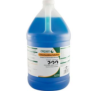 ASPEN VET CHLORHEXIDINE SOLUTION 2% GALLON 1/PKG