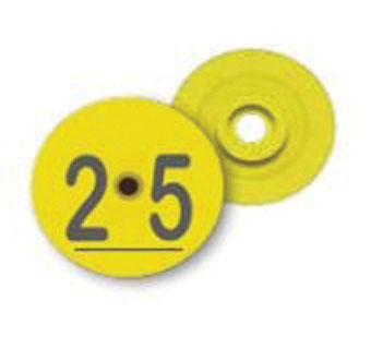 DESTRON FEARING™ DUFLEX2® BLANK MULTI-SPECIES TAG SET YELLOW