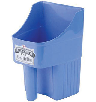LITTLE GIANT 3 QUART ENCLOSED FEED SCOOP BERRY BLUE 154116
