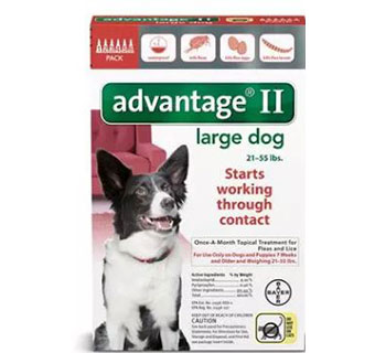 ADVANTAGE® II FOR DOGS - RED (21-55LBS) - 6/PKG
