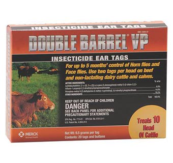 DOUBLE BARREL™ VP INSECTICIDE EAR TAGS 20/BOX