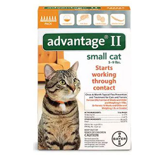 ADVANTAGE® II FOR CATS - ORANGE (5-9LBS) - 6/PKG