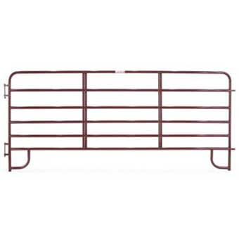CORRAL PANEL ECONOMY 6-BAR 12 FOOT RED ECR12