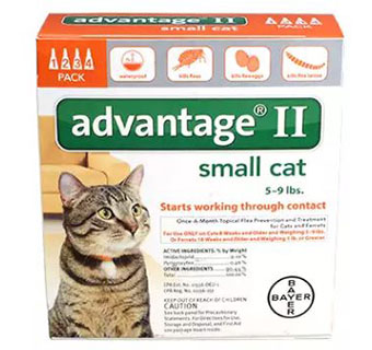 ADVANTAGE® II FOR CATS - ORANGE (5-9LBS) - 4/PKG