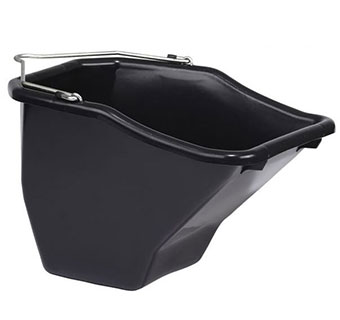 PLASTIC BETTER BUCKET - BLACK - 10 QUART - EACH