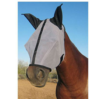 HORSE SENSE® FLY MASK WITH EARS - XLARGE - EACH