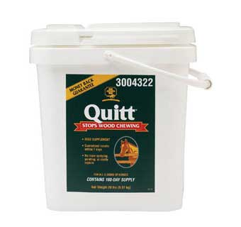 QUITT EQUINE STOP CHEW FEED SUPPLEMENT  20 LB PAIL
