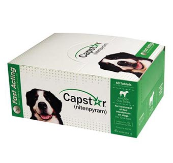 CAPSTAR® TABS (RX) - GREEN - 57MG - OVER 25LB - 6 TAB X 10 BOXES