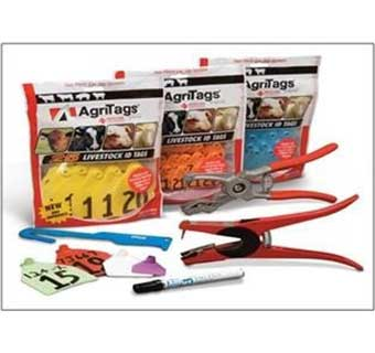 AGRI TAG MAXI COW BLANK RED 25 COUNT