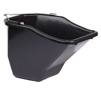 PLASTIC BETTER BUCKET - 20 QUART - BLACK - EACH