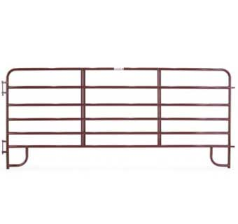 CORRAL PANEL ECONOMY 6 BAR 10 FOOT RED ECR10