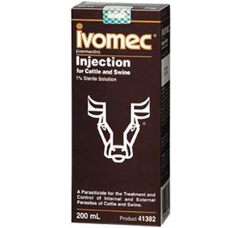 IVOMEC® 1% INJECTION FOR CATTLE & SWINE (IVERMECTIN) 200 ML