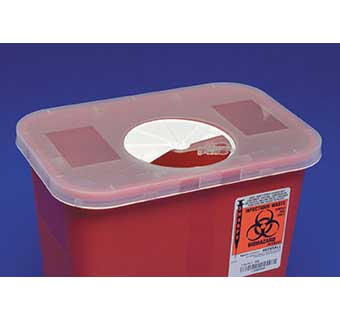 MULTI-PURPOSE SHARPS CONTAINERS ROTOR OPENING LIDS 8 QUART