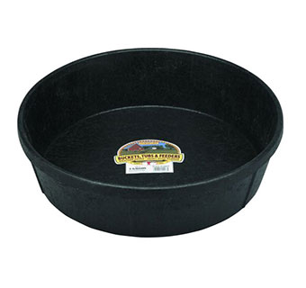 RUBBER FEED PAN - 3 GALLONS - EACH