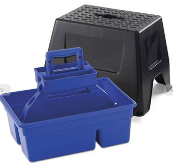 DURATOTE STOOL AND TOTE BOX - BLUE - EACH