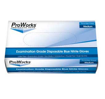 PROWORKS NITRILE POWDER FREE DISPOSABLE EXAM GLOVES 5 MIL SMALL 100 COUNT