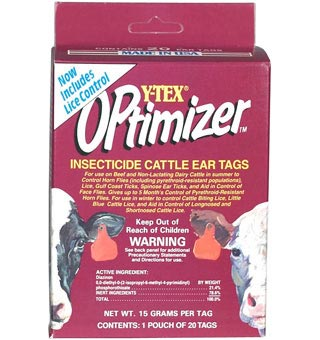 Y-TEX® OPTIMIZER® INSECTICIDE EAR TAGS 20/PKG