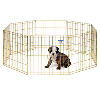 METAL PET EXERCISE PEN - 24IN - EACH