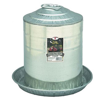 DOUBLE WALL MOUNT POULTRY FOUNT - 5 GALLON - 2/PKG