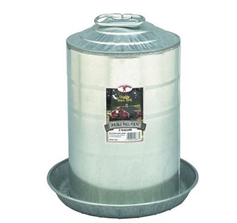 DOUBLE WALL MOUNT POULTRY FOUNT - 3 GALLON - EACH