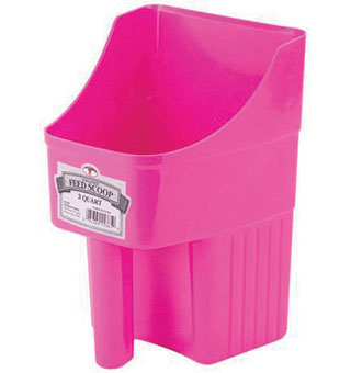 ENCLOSED PLASTIC FEED SCOOP - HOT PINK - 3 QUART - EACH
