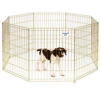 METAL PET EXERCISE PEN - 30IN - EACH