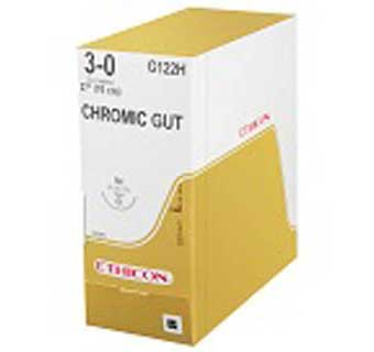 ETHICON™ CHROMIC GUT SUTURES G123H 27 IN (SH) - 36 COUNT