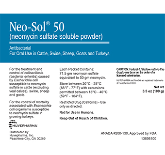 NEO-SOL® 50 (NEOMYCIN SULFATE SOLUBLE POWDER) 100 G (RX)