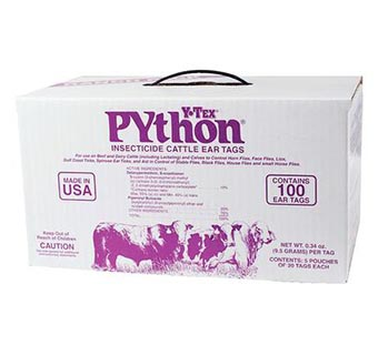 PYTHON® SYNERGIZED PYRETHROID INSECTICIDETAG 100/PKG