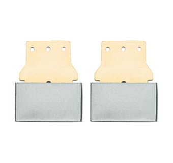SOLID BRASS BLEVINS BUCKLES 2.5 INCH ALL METAL HORIZONTAL