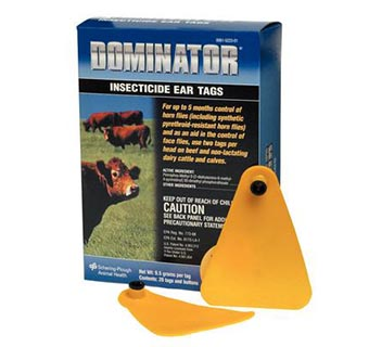 DOMINATOR® INSECTICIDE EAR TAG 20/BOX