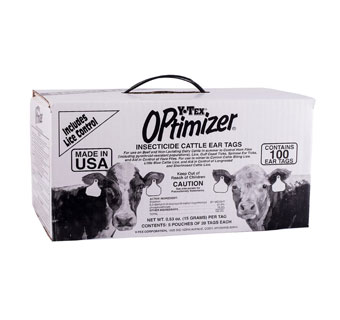 OPTIMIZER INSECTICIDE CATTLE EAR TAGS RANCH 100 COUNT
