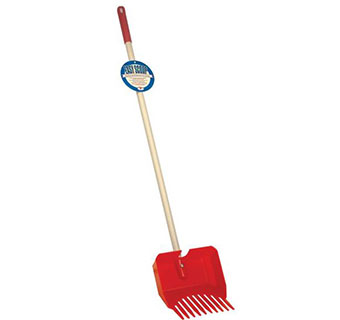 EASY SCOOP POOPER SCOOPER WITH WOODEN HANDLE - RED - EACH