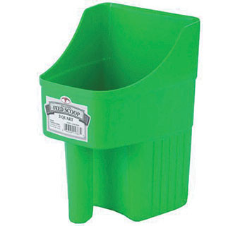 LITTLE GIANT 3 QUART ENCLOSED FEED SCOOP LIME GREEN 153874