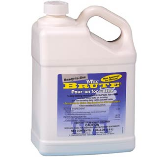 BRUTE (PERMETHRIN) POUR ON CATTLE GALLON