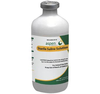 STERILE SALINE SOLUTION 0.9% 1000 ML (RX)
