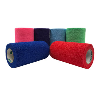 COFLEX VET COHESIVE BANDAGE COLOR PACK 4 INCH ROLL