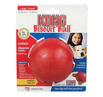 BISCUIT BALL SMALL DOG TOY