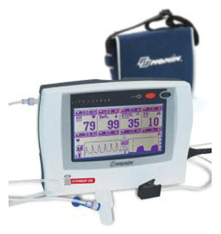 CAPNOGRAPH/PULSE OXIMETER MONITOR WITH 120 VAC 60 HZ AC ADAPTER