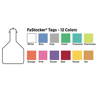 FASTOCKER BLANK TEMPLE TAG - CHARTREUSE - EACHCHARTREUSE - EACH