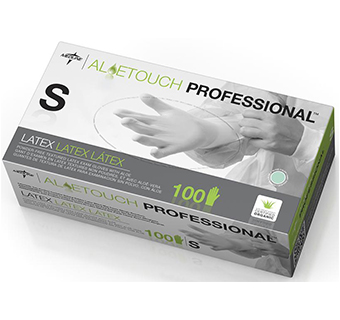 ALOETOUCH POWDER FREE LATEX GLOVES SMALL 100 COUNT