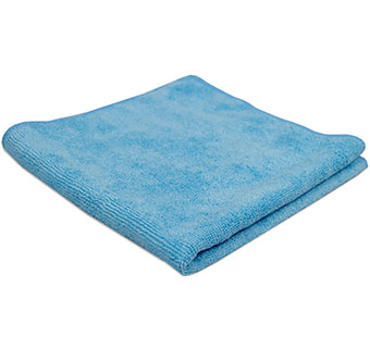 AMMEX MICROFIBER TOWELS 50G 16 IN X 16 IN BLUE 1/PKG