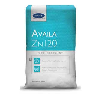 AVAILA®ZN 120 A NUTRITIONAL FEED INGREDIENT FOR LIVESTOCK AND POULTRY 25 KG