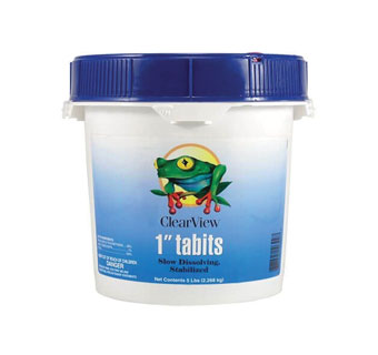 CLEARVIEW CHLORINE TABLET 1 IN 25 LB
