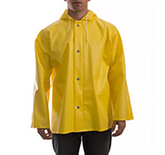 JACKET WEBDRI RIB PVC YELLOW WITH HOOD MEDIUM