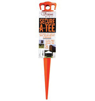 DOG TIE-OUT STAKE 16 IN L PLASTIC HOT ORANGE